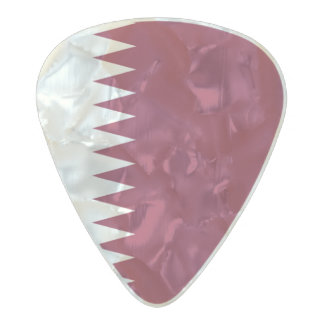Flag of Qatar Guitar Picks Pearl Celluloid Guitar Pick