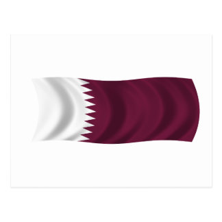 Flag of Qatar Postcard
