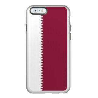 Flag of Qatar Silver iPhone Case