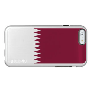 Flag of Qatar Silver iPhone Case