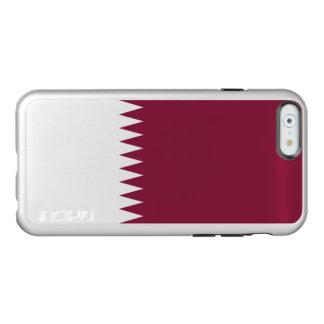 Flag of Qatar Silver iPhone Case Incipio Feather® Shine iPhone 6 Case