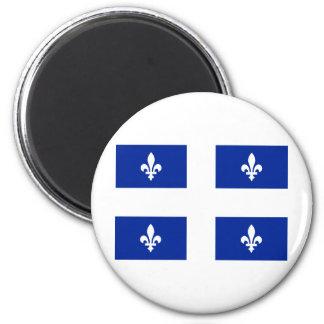Flag of Quebec 2 Inch Round Magnet