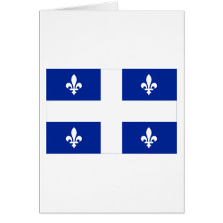 Flag of Quebec, Canada Card