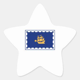 FLAG OF QUEBEC CANADA STAR STICKER