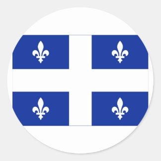 Flag of Quebec, Canada Round Sticker
