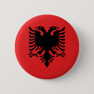Flag of Republic of Albania 2 Inch Round Button