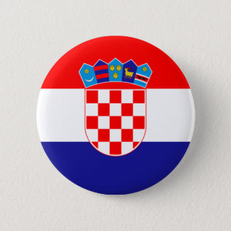 Flag of Republic of Croatia 2 Inch Round Button