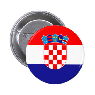 Flag of Republic of Croatia 2 Inch Round Button