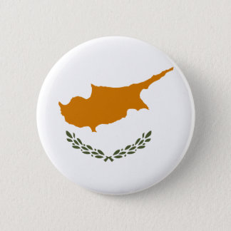 Flag of Republic of Cyprus 2 Inch Round Button