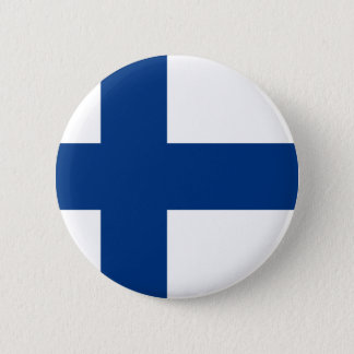 Flag of Republic of Finland 2 Inch Round Button