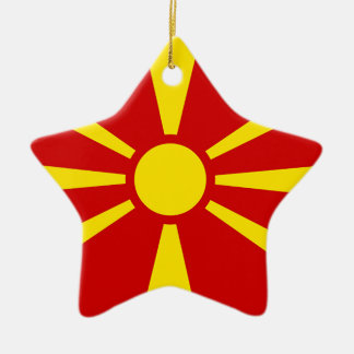 Flag of Republic of Macedonia Ceramic Star Ornament