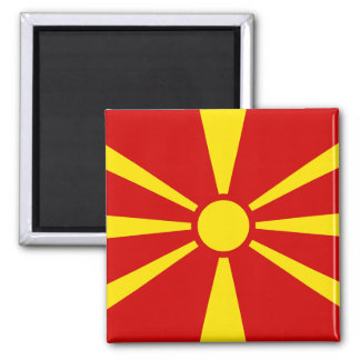 Flag of Republic of Macedonia Square Magnet