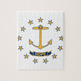 Flag Of Rhode Island Jigsaw Puzzle