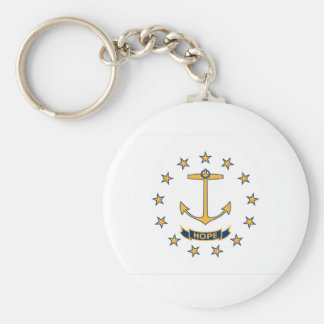 Flag Of Rhode Island Keychain