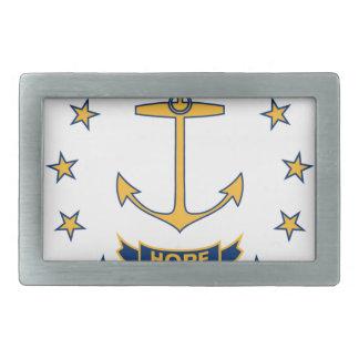 Flag Of Rhode Island Rectangular Belt Buckle