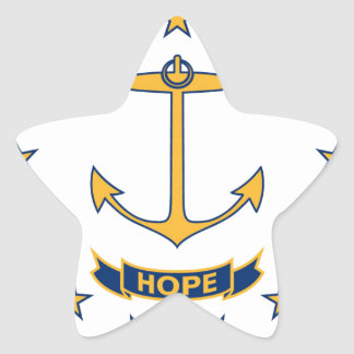 Flag Of Rhode Island Star Sticker