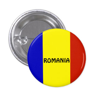 Flag of Romania 1 Inch Round Button
