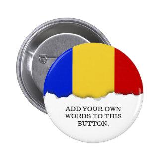 Flag of Romania 2 Inch Round Button
