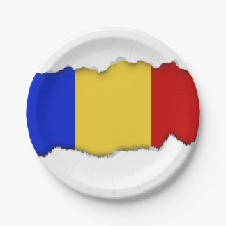 Flag of Romania 7 Inch Paper Plate