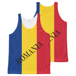 Flag of Romania All-Over-Print Tank Top