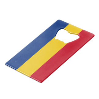 Flag of Romania Credit Card Bottle Opener