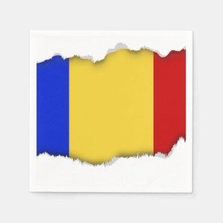 Flag of Romania Disposable Napkins