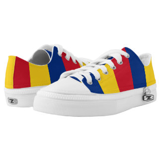 Flag of Romania Low-Top Sneakers