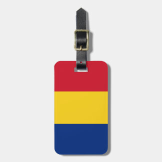 Flag of Romania Luggage Tag