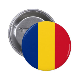 Flag of Romania on Pin / Button Badge