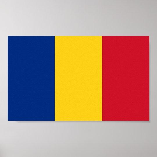 Flag of Romania Poster