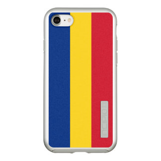 Flag of Romania Silver iPhone Case