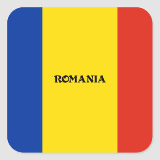 Flag of Romania Square Sticker