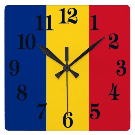 Flag of Romania Wall Clock