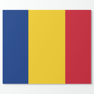 Flag of Romania Wrapping Paper