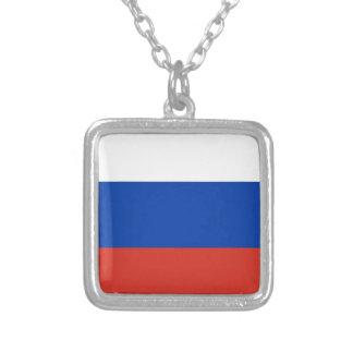 Flag of Russia - Флаг России - Триколор Trikolor Silver Plated Necklace