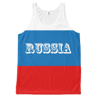 Flag of Russia All-Over-Print Tank Top