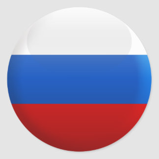 Flag of Russia Classic Round Sticker