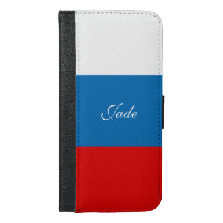 Flag of Russia iPhone 6/6s Plus Wallet Case