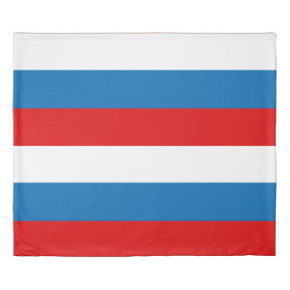 Flag of Russia King Duvet Cover
