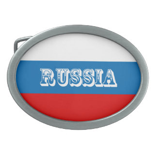 Flag of Russia Oval Belt Buckle