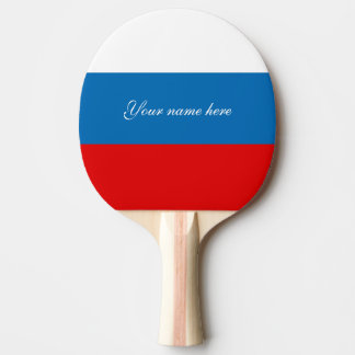 Flag of Russia Ping Pong Paddle