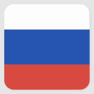 Flag of Russia Square Stickers
