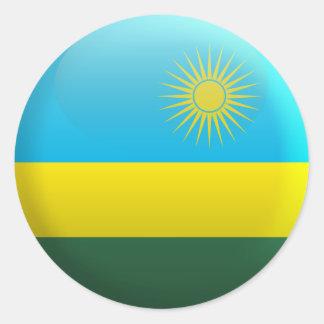 Flag of Rwanda Classic Round Sticker