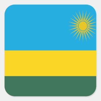 Flag of Rwanda Square Sticker