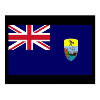 Flag of Saint Helena Island Postcard