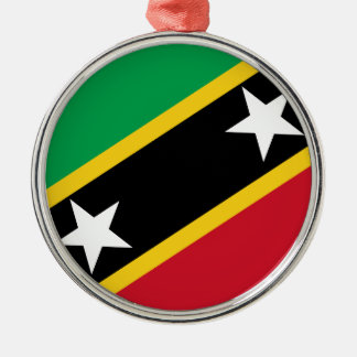 Flag of Saint Kitts and Nevis Metal Ornament