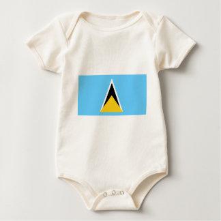 Flag of Saint Lucia Baby Bodysuit