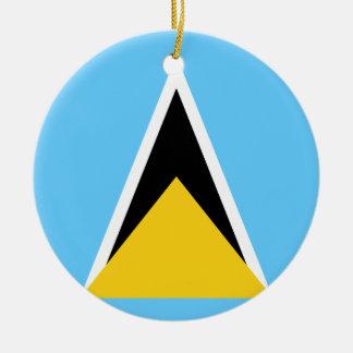 Flag of Saint Lucia Ceramic Ornament