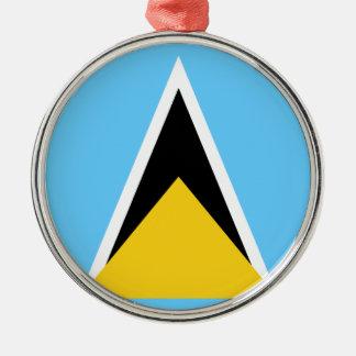 Flag_of_Saint_Lucia Metal Ornament