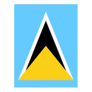 Flag of Saint Lucia Postcard